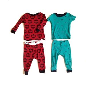 Two Piece Baby Boy Pajama Sets Red and Blue 9M